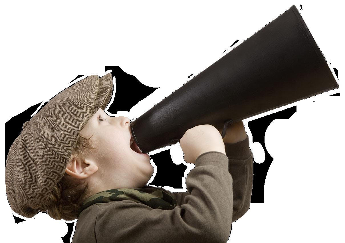 bambino-megafono
